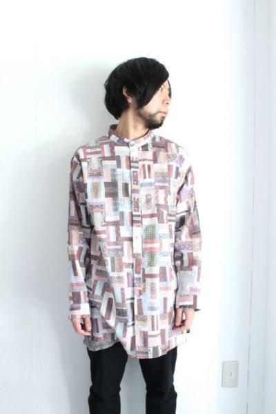 画像1: STOF / メルティングコラージュシャツ