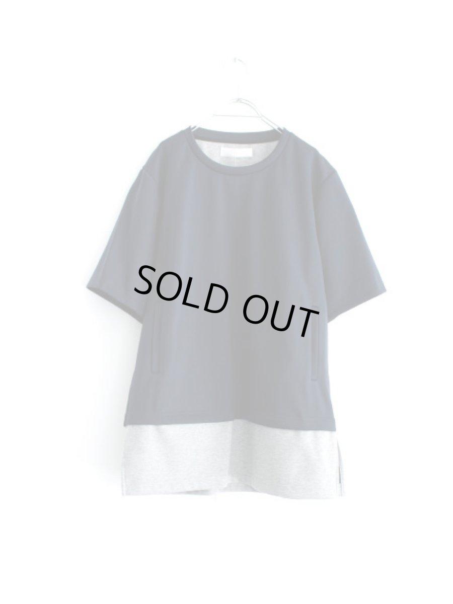 画像1: ETHOSENS / レイヤードボンディングTシャツ (1)