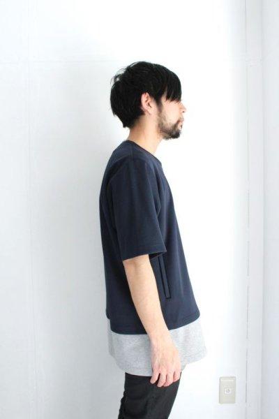 画像2: ETHOSENS / レイヤードボンディングTシャツ