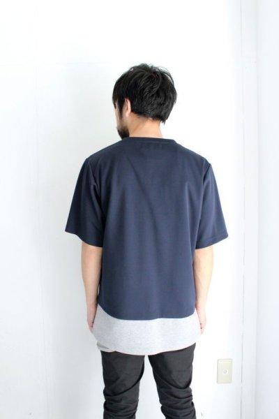 画像3: ETHOSENS / レイヤードボンディングTシャツ