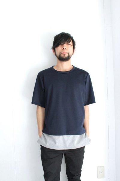 画像1: ETHOSENS / レイヤードボンディングTシャツ