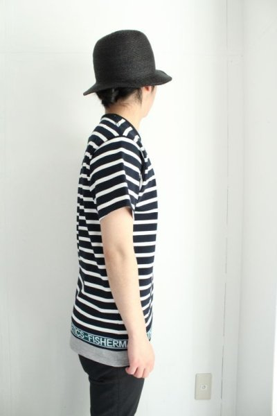 画像2: yoshio kubo / 切替ボーダーTシャツ