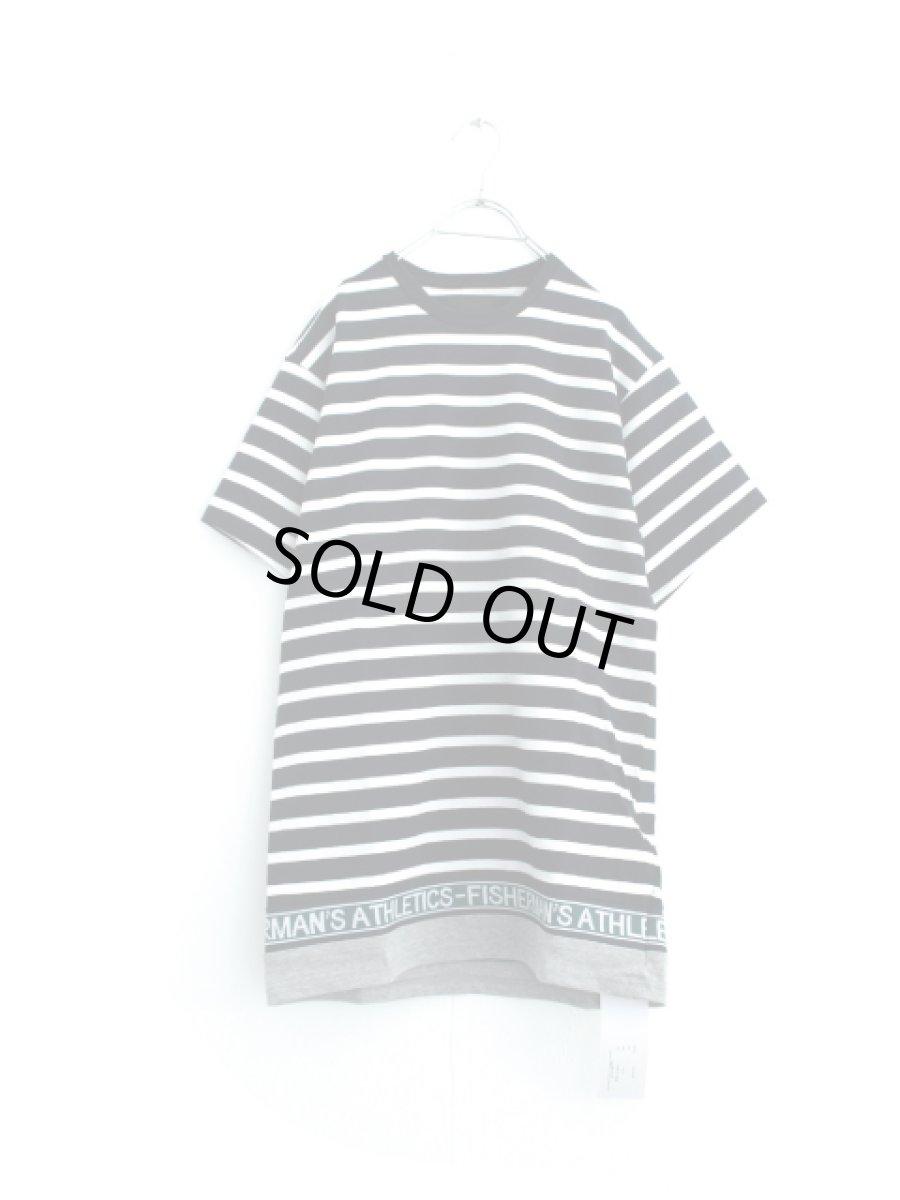 画像1: yoshio kubo / 切替ボーダーTシャツ (1)