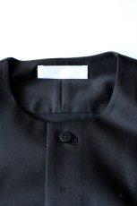 画像2: ETHOSENS / ノーカラーロングシャツ (2)