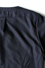 画像8: licht bestreben / ジップアップノーカラーロングシャツ (8)