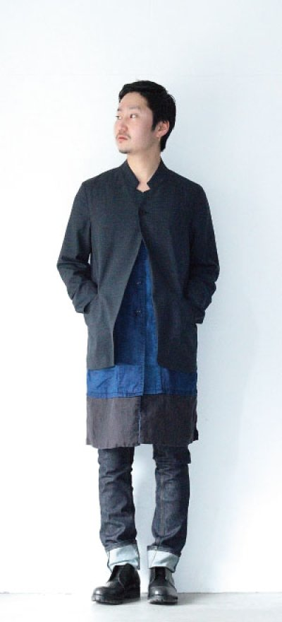 画像2: ETHOSENS / スタンドカラー1Bジャケット