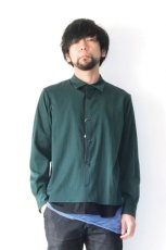 画像2: ETHOSENS / テンセルレイヤードシャツ (2)