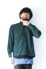 画像8: ETHOSENS / テンセルレイヤードシャツ (8)