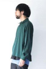 画像4: ETHOSENS / テンセルレイヤードシャツ (4)