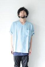 画像12: S I S E / デニムビッグポケットTシャツ (12)