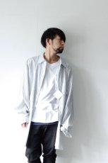 画像9: ETHOSENS / 交差ストライプビッグシャツ (9)