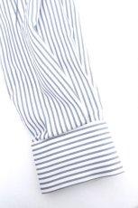 画像15: ETHOSENS / 交差ストライプビッグシャツ (15)