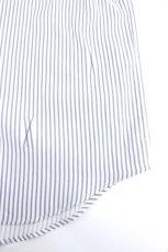 画像16: ETHOSENS / 交差ストライプビッグシャツ (16)