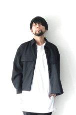 画像3: ETHOSENS / スーツ地ジップワークシャツ (3)