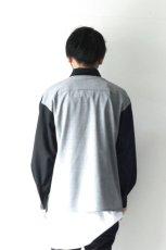 画像11: ETHOSENS / スーツ地ジップワークシャツ (11)