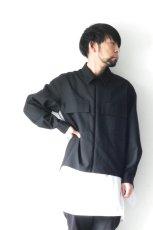 画像8: ETHOSENS / スーツ地ジップワークシャツ (8)