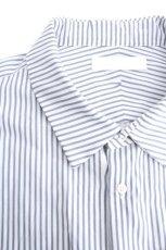 画像12: ETHOSENS / 交差ストライプビッグシャツ (12)
