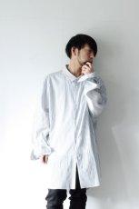 画像4: ETHOSENS / 交差ストライプビッグシャツ (4)