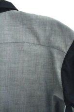 画像17: ETHOSENS / スーツ地ジップワークシャツ (17)