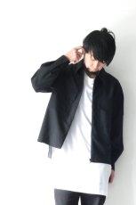 画像7: ETHOSENS / スーツ地ジップワークシャツ (7)