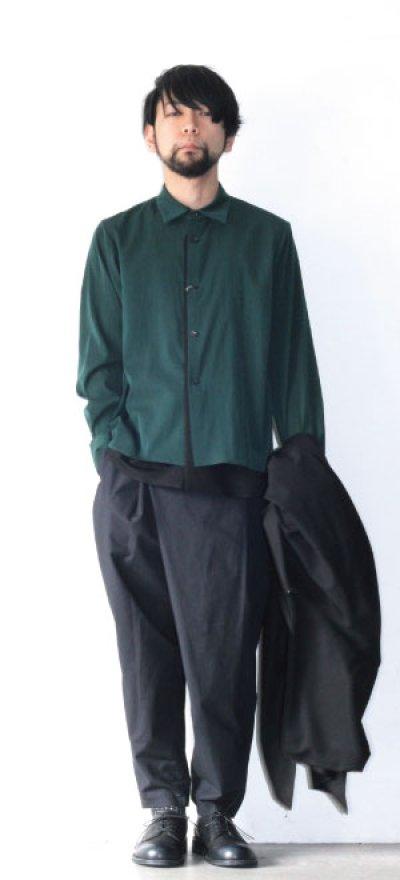 画像1: ETHOSENS / テンセルレイヤードシャツ