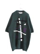 画像1: ETHOSENS / テンセル肩落としレイヤードシャツ (1)