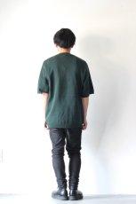 画像6: ETHOSENS / テンセル肩落としレイヤードシャツ (6)