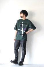 画像4: ETHOSENS / テンセル肩落としレイヤードシャツ (4)