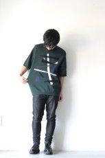 画像3: ETHOSENS / テンセル肩落としレイヤードシャツ (3)