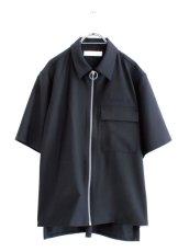 画像1: ETHOSENS / 半袖ジップシャツ (1)