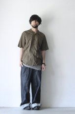 画像2: UNDECORATEDMAN / コットンリネンオープンカラーシャツ (2)