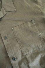 画像15: UNDECORATEDMAN / コットンリネンオープンカラーシャツ (15)