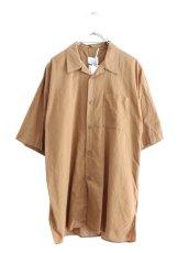 画像1: UNDECORATEDMAN / コットンリネンオープンカラーシャツ (1)