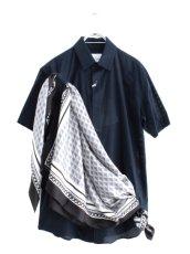 画像1: yoshio kubo / スカーフ付半袖シャツ (1)