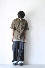 画像3: UNDECORATEDMAN / コットンリネンオープンカラーシャツ (3)
