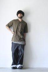 画像9: UNDECORATEDMAN / コットンリネンオープンカラーシャツ (9)