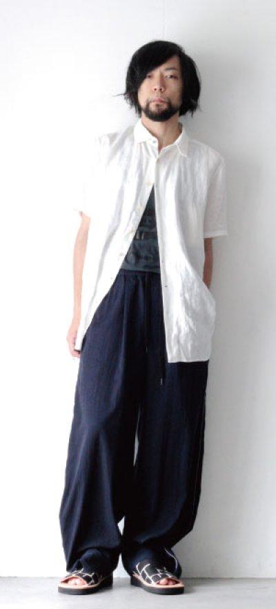 画像1: suzuki takayuki / 半袖リネンシャツ
