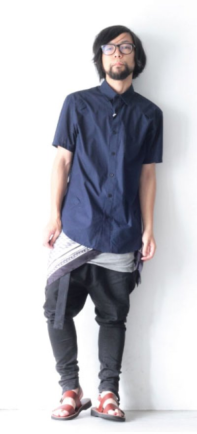 画像1: yoshio kubo / スカーフ付半袖シャツ