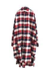 画像1: S I S E / チェックロングシャツジャケット (1)