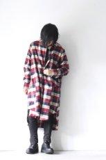 画像14: S I S E / チェックロングシャツジャケット (14)