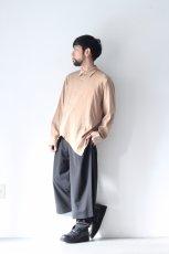 画像10: ETHOSENS / テンセルアシンメトリーシャツ (10)