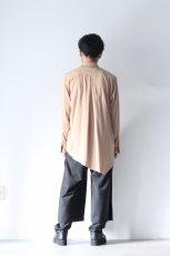 画像5: ETHOSENS / テンセルアシンメトリーシャツ (5)
