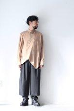 画像3: ETHOSENS / テンセルアシンメトリーシャツ (3)