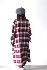 画像4: S I S E / チェックロングシャツジャケット (4)