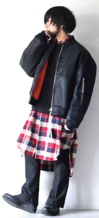 画像2: S I S E / チェックロングシャツジャケット
