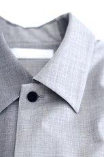 画像15: ETHOSENS / バイカラーオーバーサイズシャツ (15)
