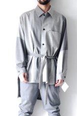 画像8: ETHOSENS / バイカラーオーバーサイズシャツ (8)
