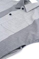 画像18: ETHOSENS / バイカラーオーバーサイズシャツ (18)