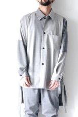 画像3: ETHOSENS / バイカラーオーバーサイズシャツ (3)