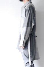 画像5: ETHOSENS / バイカラーオーバーサイズシャツ (5)